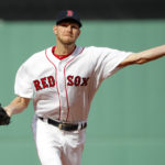 Apr 15, 2017; Boston, MA, USA; Boston's Chris Sale delivers a pitch against Tampa Bay during the first inning of Saturday's game at Fenway Park in Boston.