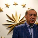 Turkish President Recep Tayyip Erdogan speaks during a news conference in Istanbul, Turkey April 16, 2017.