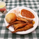 A plate of food at the Columbia Falls Smelt Fry, held on April 15 this year.