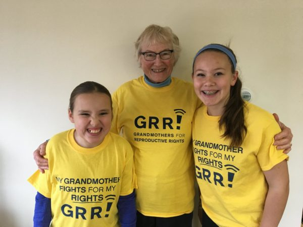 The overwhelming response of this photo of Judy Kahrl of Arrowsic with her granddaughters on the Pantsuit Nation Facebook page prompted Grandmothers for Reproductive Rights (GRR!) to expand nationally.