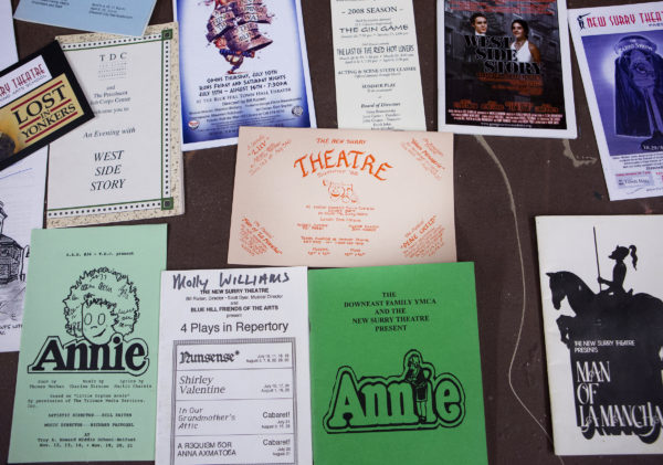 Various playbills are seen from plays that Bill Raiten has directed over they years at the New Surry Theatre in Blue Hill. Raiten has been the longtime artistic director of the New Surry Theatre in Blue Hill and stalwart of the eastern Maine theater scene for decades. Just shy of his 80th birthday, he'll retire from directing, with his last production being his old favorite, &quotFiddler on the Roof.&quot