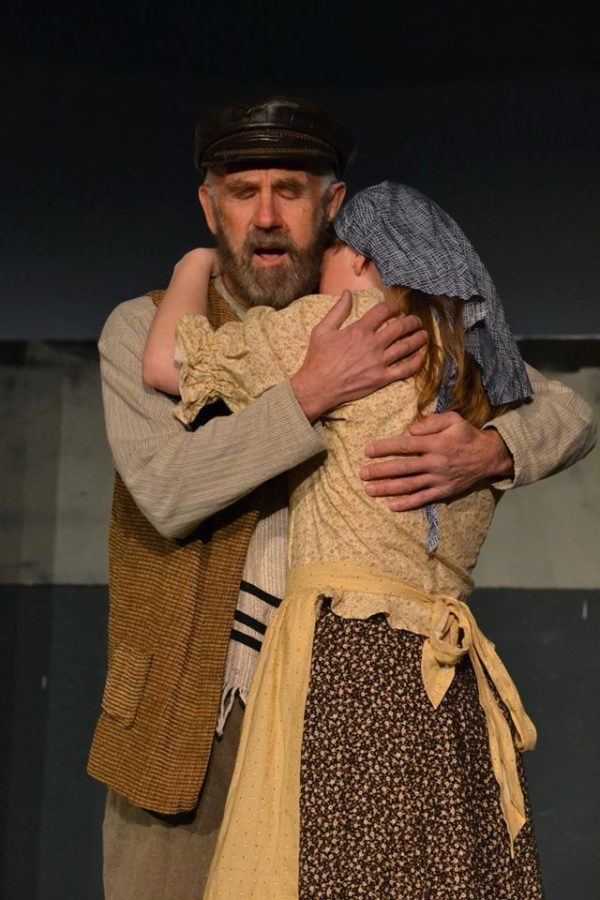 Douglas Coffin as Tevye and Madelyn Woods as Tzeitel in a rehearsal of the New Surry Theatre's production of &quotFiddler on the Roof.&quot