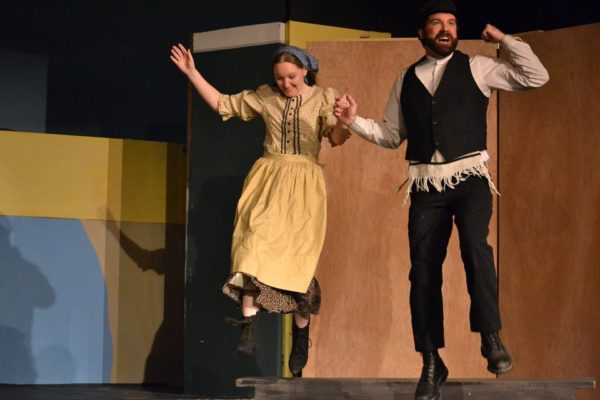 Madelyn Woods as Tzeitel and Bryan Lescord as Motel in a rehearsal of the New Surry Theatre's production of &quotFiddler on the Roof.&quot