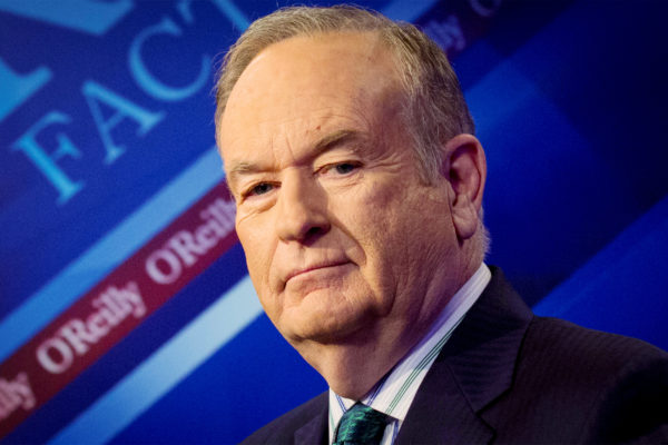 Fox News Channel host Bill O'Reilly poses on the set of his show &quotThe O'Reilly Factor.&quot
