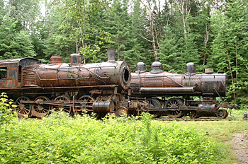 The old, abandoned locomotives on the Allagash Wilderness Waterway is the destination of a driving convoy this summer. So far, more than 50 people are planning to take part in the 90-mile drive into the Maine woods in August.