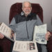 Harrison C. Roper of Houlton shows off some of the many pieces of music he has scored over the years. Roper will be the featured honoree at the Northern Maine Chamber Society Orchestra concerts Saturday,  April 29, in Houlton and Sunday, April 30, in Presque Isle.