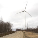 Turbines at the Pisgah Mountain wind project in Clifton.