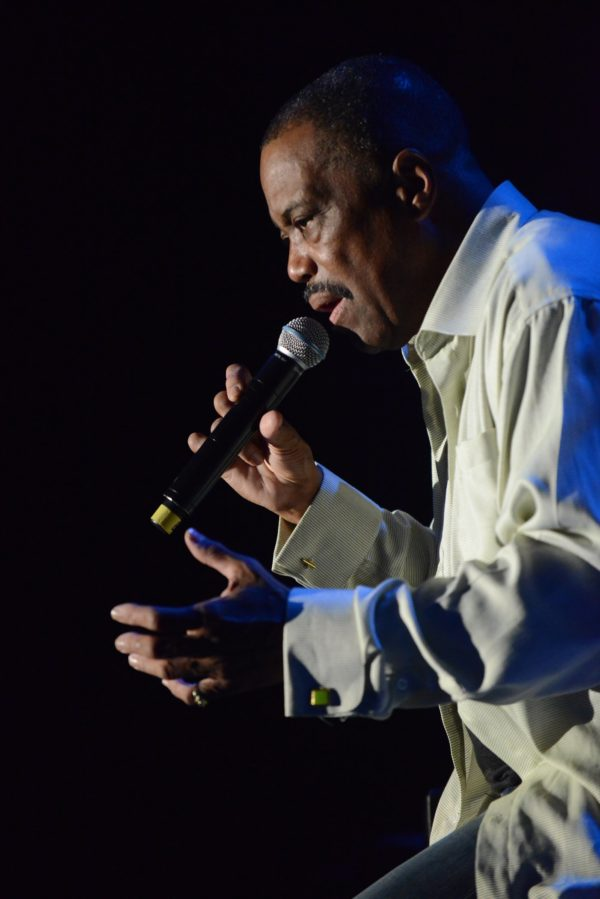 Cuba Gooding Sr., in a July 15, 2013, file image on stage at the Greek Theater in Los Angeles, was found dead on Thursday, April 20, 2017. He was 72.