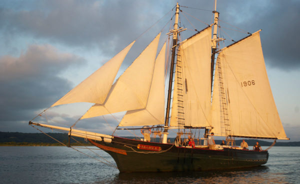 The Mary E, believed to be the oldest Maine-built wooden fishing schooner still afloat, is scheduled to arrive Sunday at her new home at Maine Maritime Museum.