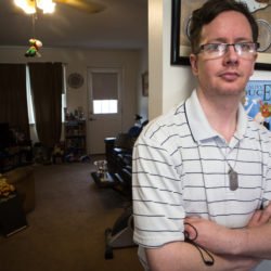 Christian Powers, 41, has Asperger's syndrome and lives in Gorham. He has two college degrees but only works part time because he is afraid he'll lose disability benefits if he makes too much money.