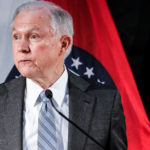 U.S. Attorney General Jeff Sessions speaks to law enforcement officers at the Thomas Eagleton U.S. Courthouse in St. Louis, Missouri on March 31, 2017.