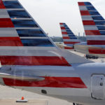 American Airlines aircraft parked at Ronald Reagan Washington National Airport.