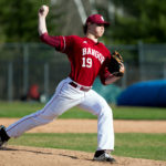 Bangor senior Peter Kemble pitched a five-hit shutout on Monday in the Rams' 1-0 high school baseball victory over Brewer at Mansfield Stadium Monday. 