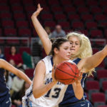 Laia Sole (13) of the University of Maine, who was an all-rookie pick and the America East Rookie of the Year last season, has transferred to Duquesne University in Pittsburgh.