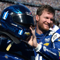 NASCAR driver Dale Earnhardt Jr. prior to the running of the Daytona 500 on Feb. 26, 2017, at Daytona International Speedway in Daytona Beach, Florida.