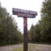 A road sign along the northern access road to the new Katahdin Woods and Waters National Monument.
