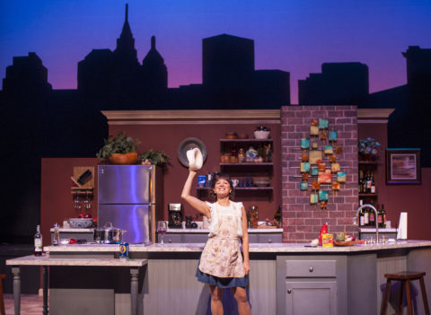 Michelle Damato plays Giulia in Penobscot Theatre Company's production of &quotI Loved, I Lost, I Made Spaghetti.&quot