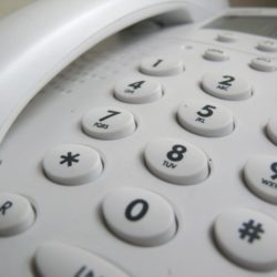 A landline telephone.