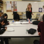 Chelsie Crane teaches many of the international students at Dexter Regional High School in Dexter, Maine. The school has created a partnership with a school in Suzhou, China, to bring over seniors each year.