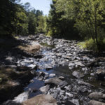The view of the Souadobscook Stream in Hampden which, along with many other bodies of water, experienced extremely low levels of water due to the 2016 drought.