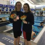 Ann Tolan (left) and Caitlyn Tycz of the Long Reach Swim Club in Bath pose together after a successful day of racing at the 2016 YMCA national championships. The duo, along with Olivia Harper and Ella Martin, set a national record of 1 minute, 33.2 seconds in the 200-yard freestyle relay. They became the first team from Maine to win a relay gold at the Y Nationals.