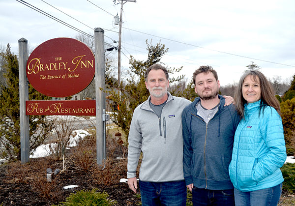 Tony, Ross and Laura Moskwa are the new owners of The Bradley Inn. The Moskwas, formerly of Auburn, California closed on the inn Thursday, March 30.