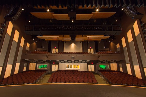 Completed in October of 2009, the Gracie Theatre is Husson University's center for the fine and performing arts. This beautiful 500-seat theatre is quickly earning a reputation as one of Maine's premier performance venues. In addition, The Gracie also serves as a learning platform for students from the New England School of Communications in digital audio, sound mixing, set design and construction, lighting, acting and electronics.
