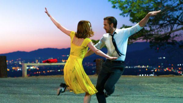 "Best Actress Oscar™-winner Emma Stone and Ryan Gosling in the Oscar™-nominated ""La La Land."""
