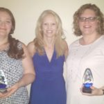 Left to right: Ashley Pesek, Jenna Mehnert, MSW, Executive Director, and Michelle Ferris.