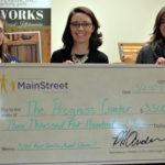L to R: Miranda Ward, Progress Center, Melissa Rock, Androscoggin Bank, Jennifer Putnam, Progress Center