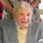MOUNT DESERT ISLAND, MAINE -- 5/22/15 -- David Rockefeller Sr. is seen during an event to mark his donation of 1000 acres of land to the Mount Desert Land and Garden Preserve on Friday on Mount Desert Island. Gabor Degre | BDN