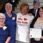Maine Troop Greeters presented governor's award for volunteerism.