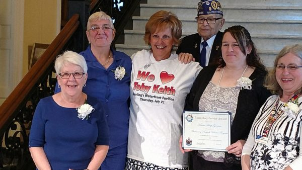 Maine Troop Greeters presented governor's award for volunteerism.
