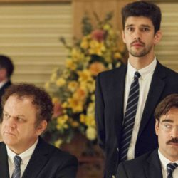 """John C. Reilly, Ben Whishaw and Colin Farrell in the Oscar™-nominated """"The Lobster."""""""