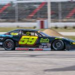 Reid Lanpher of Manchester is pictured driving his brand-new Chevy Impala recently at Oxford Plains Speedway. The 18-year-old bounced back after a December snowmobile crash and on Sunday won the Pro All Stars Series North Super Late Model Sportsman feature race at Oxford.