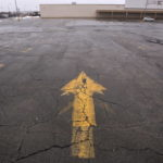 The parking lot of the former Kmart store in Bangor.