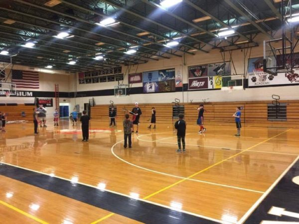 Participants in the Northern Maine Lacrosse Club recently held a practice session at Houlton Middle-High School. The club is gearing up for its inaugural spring season.