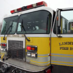 The bright yellow pumper tanker from the Middletown, Connecticut Fire Department came already lettered for the Linneus Fire Department.