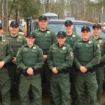 Ten new wardens graduated April 27 in Vassalboro. They are, (from left, back row, with hometown and new district assignments listed: Kale Oleary of Fort Kent, assigned to Masardis District; Harry Wiegman of Leeds, Rangeley District; Taylor Valente of Gray-New Gloucester, Rockwood District; Camden Akins of Winslow, Chamberlain Lake District; Kyle Franklin of Durham, Estcourt Station District; John Carter of Orrington, Blue Hill District; (from left, front row), Nick Raymond of Winslow, Fort Kent District; Megan Miller of Pittsfield, Mars Hill District; Lauren Roddy of Belgrade, Jackman District; Kayle Hamilton of Buxton, Clayton Lake District.