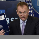 Office of Management and Budget Director Mick Mulvaney speaks during a press briefing about  President Donald Trump's 2018 budget proposal.