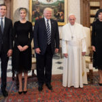 Pope Francis poses with U.S. President Donald Trump (C) his wife Melania (R), Jared Kushner (L) and Ivanka Trump during a private audience at the Vatican, May 24, 2017.