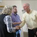 Montana Republican congressional candidate Greg Gianforte greets voters while campaigning for a special election in Missoula, Montana, May 24, 2017.