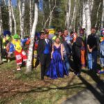 A group of Anah Temple Shrine clowns gathered in Presque Isle on May 20 to usher Skyler McAtee and her date Grant Bridges to the Presque Isle High School prom. Eleven clowns posed with the couple before getting into a stretch limo to head to the prom where they exited the vehicle one by one in colorful flourishes and with balloon animals in hand, before the couple stepped out to applause. McAtee was born with a bone deficiency and has received multiple treatments and surgeries at the Shriner's Hospital For Children in Boston.