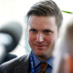 "Richard Spencer, a leader and spokesperson for the so-called ""alt-right"" movement, speaks to the media at the Conservative Political Action Conference (CPAC) in National Harbor, Maryland, U.S., February 23, 2017."