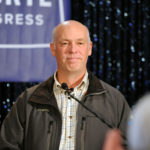 Representative elect Greg Gianforte delivers his victory speech during a special congressional election called after former Rep. Ryan Zinke was appointed to lead the Interior Department, in Bozeman, Montana, U.S., May 25, 2017.