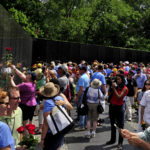 Jack Wheeler co-founded the organization that built the Vietnam Veterans Memorial, known as the Wall, which draws more than 5 million visitors per year. Here hundreds of people gather at the Vietnam Veterans Memorial on Father's Day in 2015.