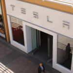A Tesla store is shown at a shopping mall in San Diego, California, April 28, 2017.