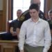 Samuel Geary, 17, of Houlton, who has been charged with murder in the death of 61-year-old Keith Suitter in March 2015, appears in Aroostook County Superior Court in Houlton Friday morning.