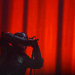 Tool lead singer Maynard James Keenan performs during their show at the Darling's Waterfront Pavilion in Bangor Saturday.