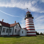West Quoddy Head Lighthouse, which has served as a beacon for ships off the rocky coast of Maine for more than 200 years, is one of the key features of Quoddy Head State Park.